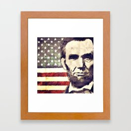 Patriot President Abraham Lincoln Framed Art Print