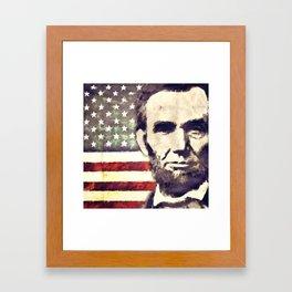 Patriot President Abraham Lincoln Framed Art Print