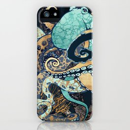 Metallic Octopus II iPhone Case
