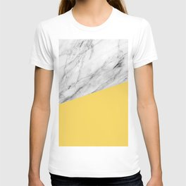 Marble and Primrose Yellow Color T-shirt