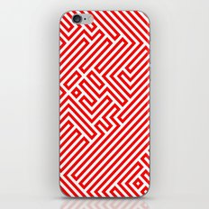 Optical Chaos 02 red iPhone & iPod Skin