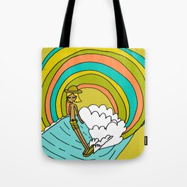 groovy vibes hang 10 by surfy birdy Tote Bag