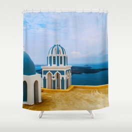 Church with a view Shower Curtain