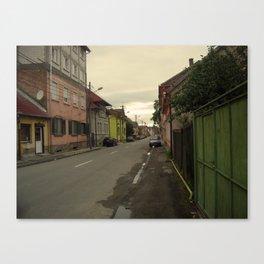 Romanian Works 21 Street Scene Sibiu Canvas Print
