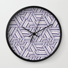 Abstract striped pattern.3 Wall Clock
