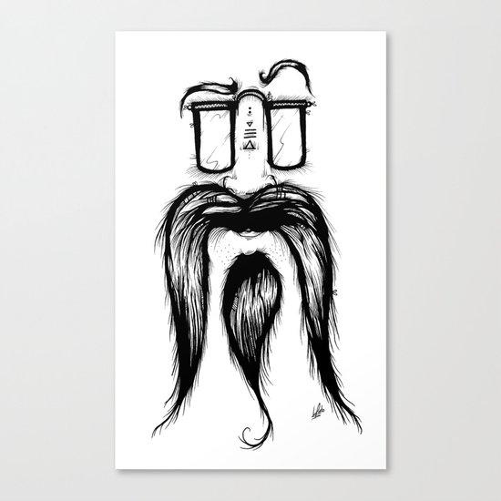 Blackie Beardy Face Canvas Print
