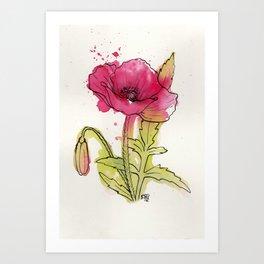 Poppy red Art Print
