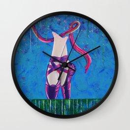 ballerina shoes Wall Clock
