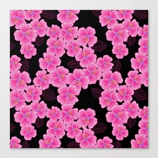 """pink on black"" Canvas Print"