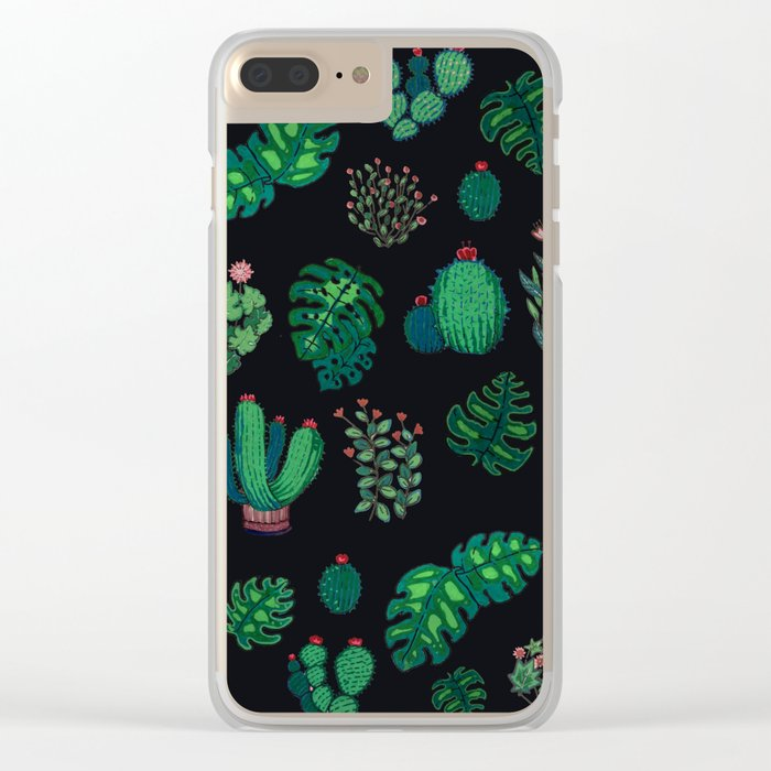 tropical green !! Clear iPhone Case
