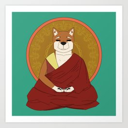 Dalai-Shiba Art Print