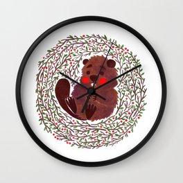 Baby Beaver Wall Clock