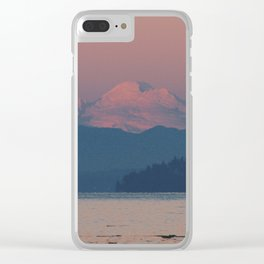Sunset on Mount Baker Clear iPhone Case