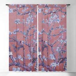 "Vincent van Gogh ""Almond Blossoms"" (edited orange) Blackout Curtain"
