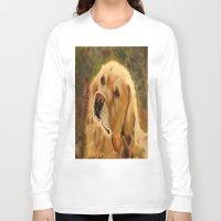 golden retriever Long Sleeve T-shirts featuring Golden Retriever by Tidwell