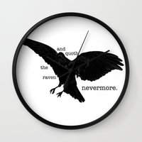 martell Wall Clocks featuring Nevermore by Sophie Martell