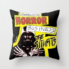Sithfits Intergalactic Horror Business Throw Pillow