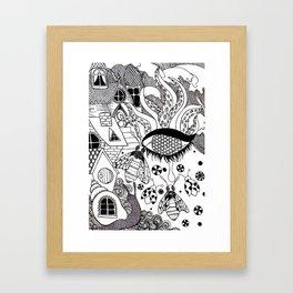 A Beautiul Mess Framed Art Print