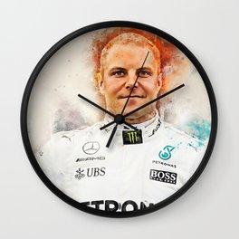 Valtteri Bottas driver Wall Clock