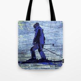 Sundown Skier Tote Bag