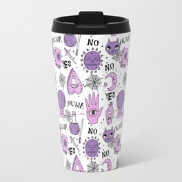 Ouija halloween potions crystal ball witch magic sorcerer pattern by andrea lauren Travel Mug
