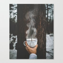 Blooming Coffee Canvas Print