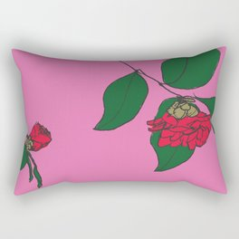 Red Camellia Rectangular Pillow