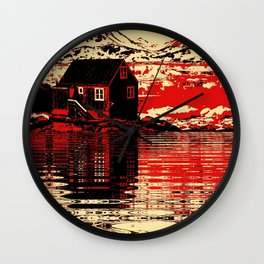 House on the Fjord Wall Clock
