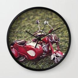 Metal sidecar Wall Clock