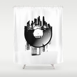 Urban Vinyl of Underground Music Shower Curtain