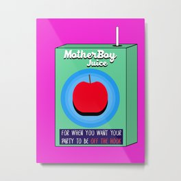MotherBoy Juice Box Metal Print