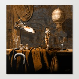 After theater (Gulliver in the giant country) Canvas Print