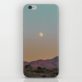 Sunset Moon Ridge // Grainy Red Mountain Range Desert Landscape Photography Yellow Fullmoon Blue Sky iPhone Skin