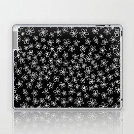 Flowers on Black Laptop & iPad Skin