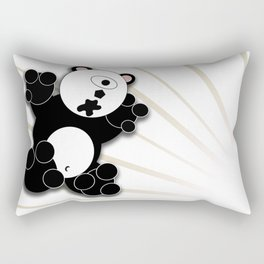 One Eyed Panda - White Rectangular Pillow