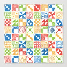 Abstract Squares Primary Canvas Print