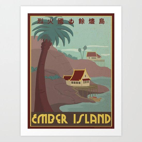 Ember Island Travel Poster Art Print