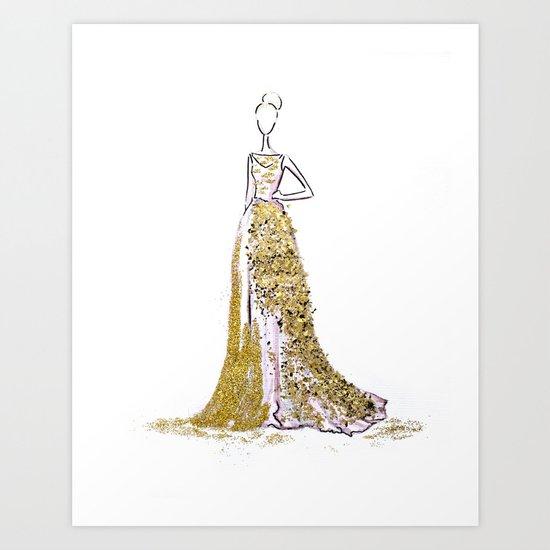 Glitter Gala Art Print