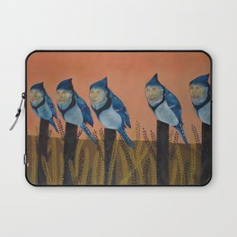 Blue Birds and Barley  Laptop Sleeve