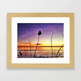 Lake at Sunset Framed Art Print
