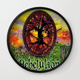 Rebelution Tree of Life Bright Side of Life Beautiful Sunrise/Sunset Landscape Wall Clock