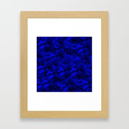 A202 Rich Blue and Black Abstract Design Framed Art Print