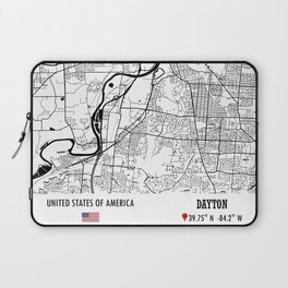 Dayton, USA Road Map Art - Earth Tones Laptop Sleeve
