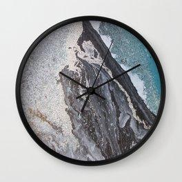 Acrylic marbling painting 0II Wall Clock
