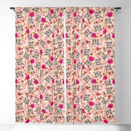 Pretty Sweary: Fresh out of Fucks- Pink Blackout Curtain