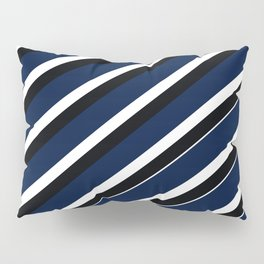 TEAM COLORS 1...navy, black white Pillow Sham