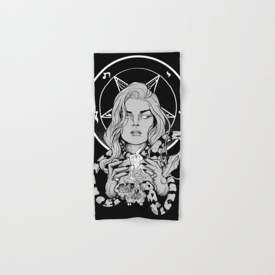 Black Mass Ritual Hand & Bath Towel