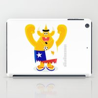chile iPad Cases featuring Feeling Chile Football freak World Cup 2014 by simon oxley idokungfoo.com