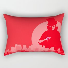 Jack The Ripper Red Background Rectangular Pillow