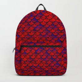 Red Purple Scales Backpack